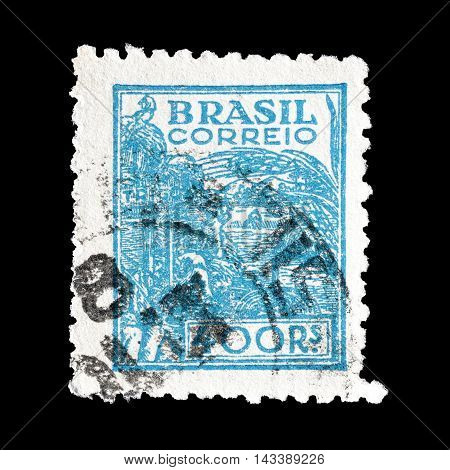 BRASIL - CIRCA 1941 : Cancelled postage stamp printed by Brasil, that shows agriculture.
