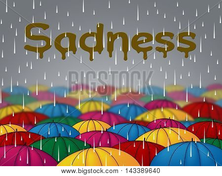 Sadness Rain Represents Sorrow Despair And Depression