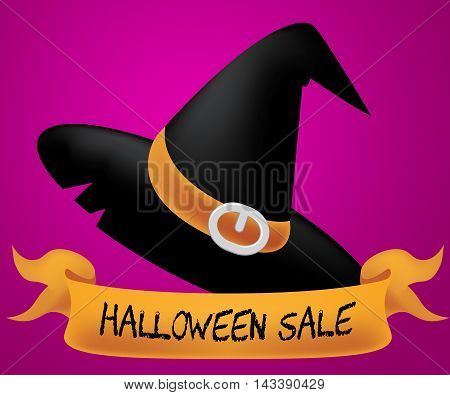 Halloween Sale Indicates Trick Or Treat 3D Illustration