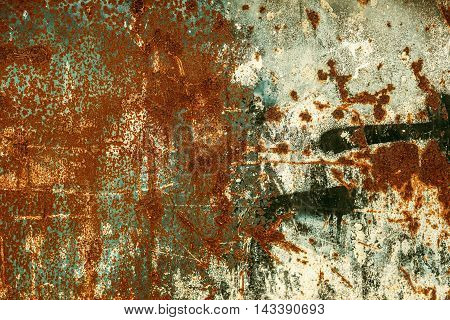 Rusty old scratched metal textured background close