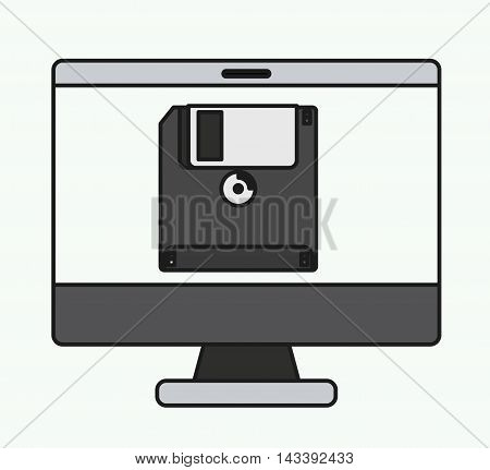 computer desktop isolated icon vector illustration design
