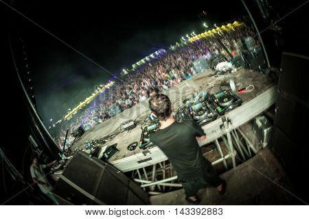 CULLERA, SPAIN - AUGUST 14th: Medusa Sun Beach Festival on August 14, 2016 in Cullera, Spain