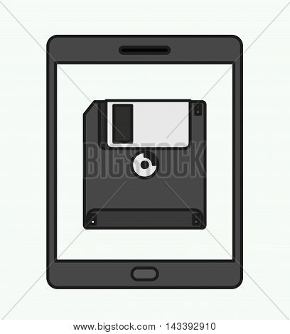 tablet technology isolated icon vector illustration design