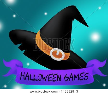 Halloween Games Means Spooky Playing And Entertainment