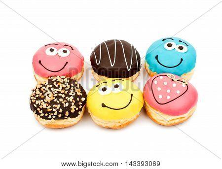 donut glaze dessert on a white background