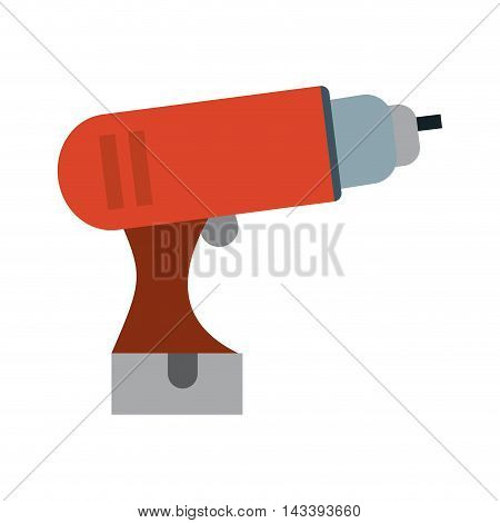 drill tool construction repair icon. Flat and Isolated design. Vector illustration