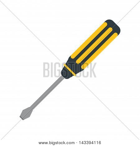 screwdriver tool construction repair icon. Flat and Isolated design. Vector illustration