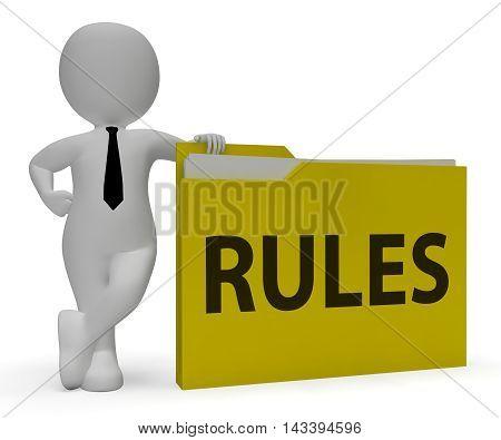Rules Folder Shows Guidlines File 3D Rendering