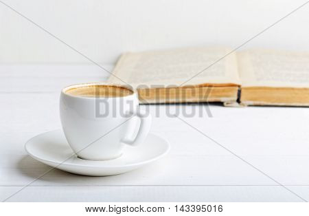 Cup Of Espresso And Book