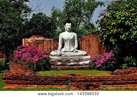 Samut Prakan Thailand - January 15 2013: The Wihan of Wat Pho Kao Ton at Sing Buri at Ancient Siam heritage page