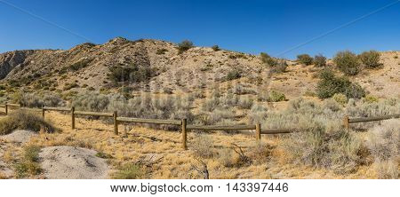 Fenced Border Of State Land