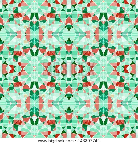 Seamless Pattern Mosaic With Green Pieces