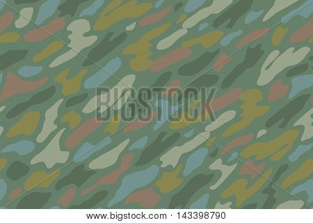 Khaki camouflage repeat seamless pattern. Green khaki camouflage for textile background. Khaki military fabric texture. Vector Illustration