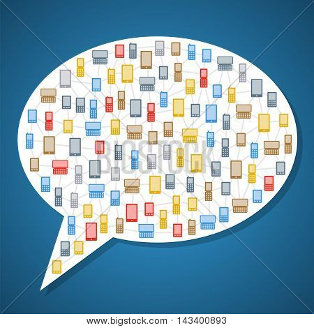 Bubble Icon With Phones