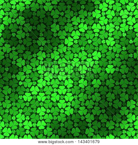 Seamless Pattern With Green Clovers