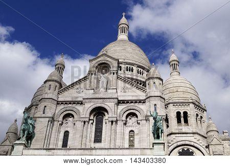 Famous Sacre-Coeur basilica in Paris in France