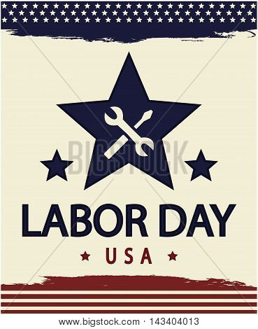 Labor day usa card or backround. vector illustration.