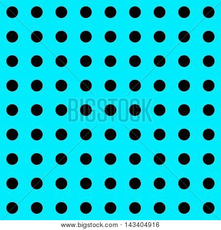 Polka Dot pattern. Polka Dots Classic Trend. Blue and black popular color. Black dots on blue background. Illustration for Art, Print, Fashion, textile print, bags, web Spring, Summer design.