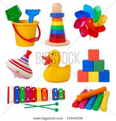 Speelgoed geïsoleerd op witte achtergrond