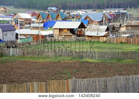 Khuzhir village near Baikal lake on Olkhon island, Russian Federation