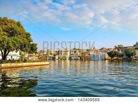 Udaipur City And  Lake Pichola  , Rajasthan, India