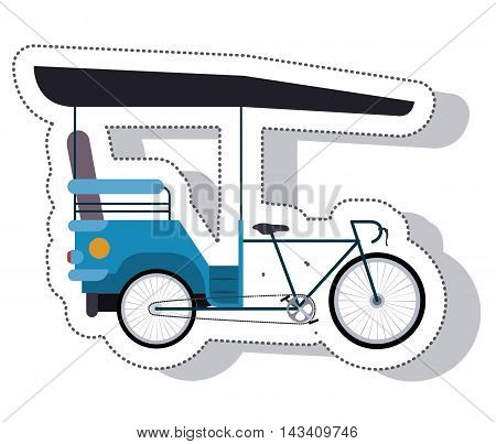 rickshaw service isolated icon vector illustration design