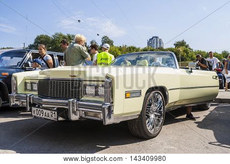 Retro Car Cadillac On Avtoarena In Cheboksary