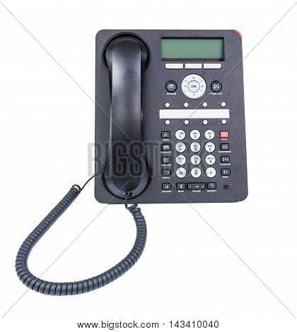 Business Voip phone isolated over white background
