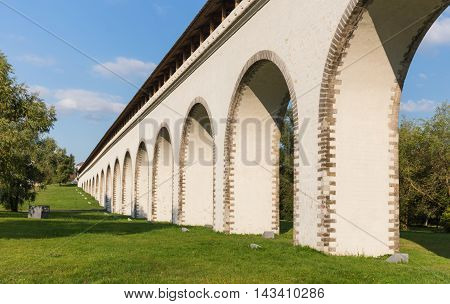 Fragment perspective view of the aqueduct bridge in Moscow