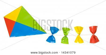 Kite isolated on white background