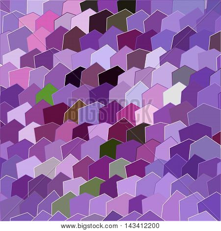 Primitive simple purple lilac modern pattern with rectangles and flowers