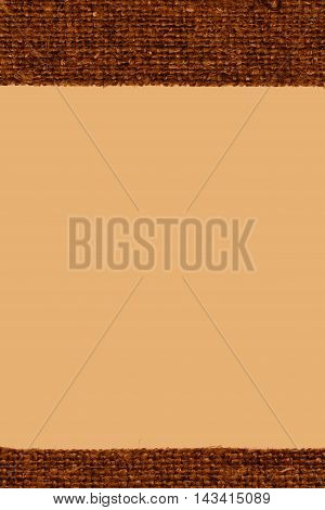 Textile surface, fabric concepts, ochre canvas, sackcloth material old-fashioned background