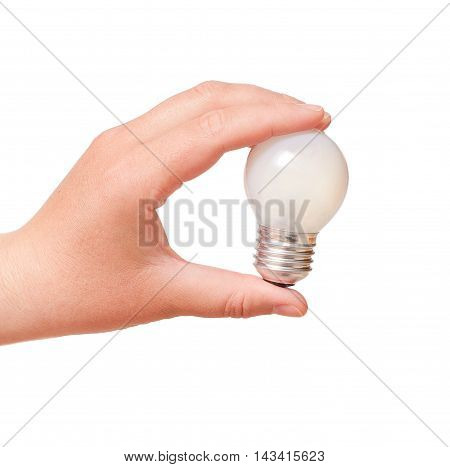Energy Consumption And Energy Saving Topic: Human Hand Holding A