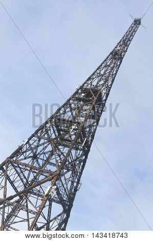 Poland Upper Silesia Gliwice 1930s radio tower currently the tallest wooden structure in the world 111 m