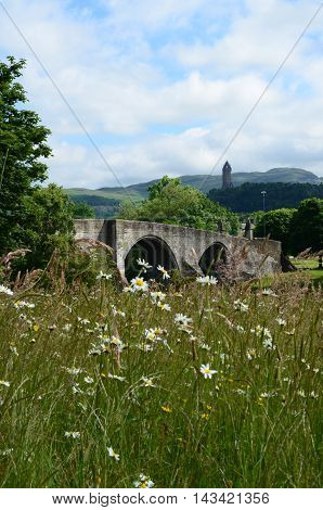 A view of the historic old stone bridge at stirling
