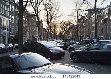 Car Parking. Amsterdam, Holland