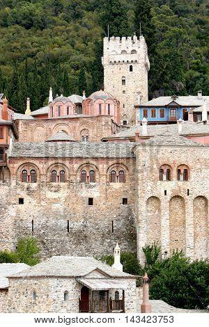 Monastery Dochiariou on Mount Athos in Greece