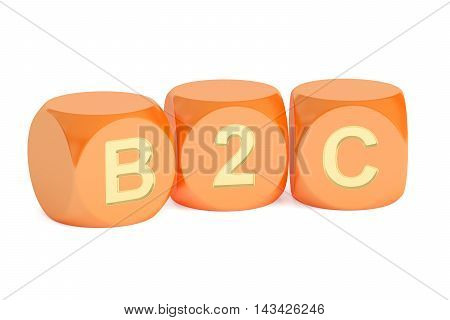 B2C concept 3D rendering isolated on white background
