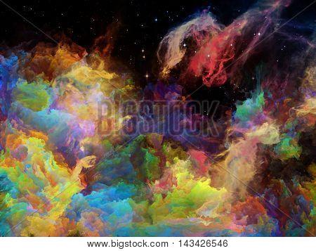 Glow Of Space Nebula