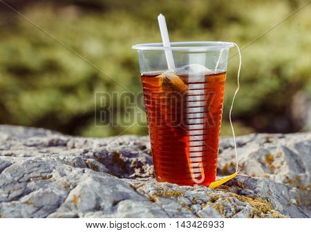 Tea In One Glass In Nature