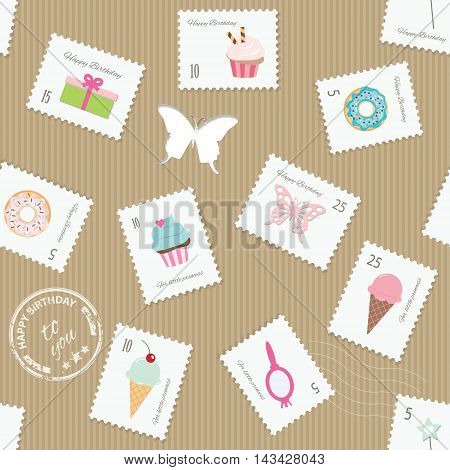 For birthday or scrapbook design. For print and web. Girly.