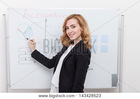 Woman Preparing For Conference