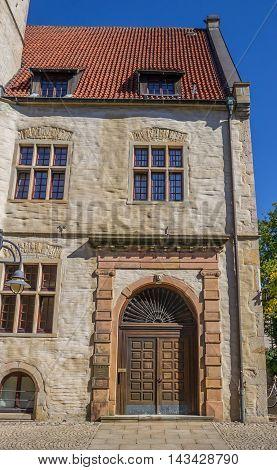 Door Of The Historical University Building In Steinfurt