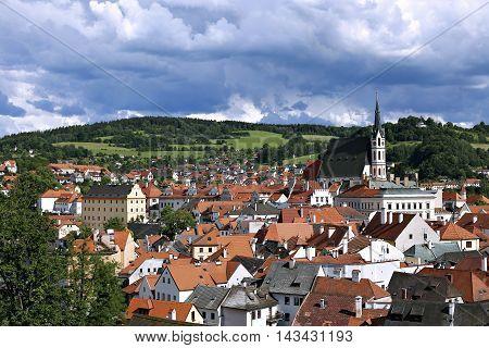 PRAGUE, CZECH REPUBLIC - JUNE 24, 2016: Cesky Krumlov in the Czech Republic