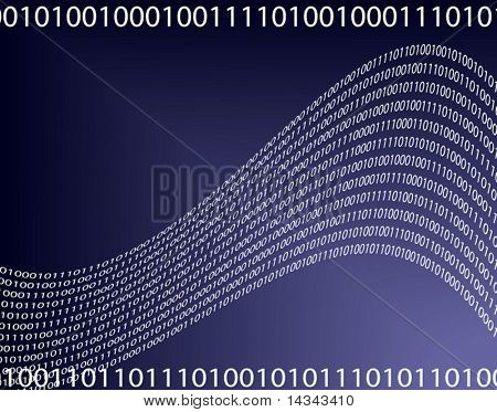Editable vector illustration of a digital data background