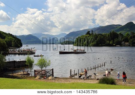 A view of Derwent Water in the English Lake District