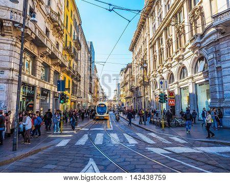 Via Torino In Milan (hdr)