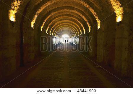 Beylerbeyi Palace passage tunnel. The Beylerbeyi Palace (Turkish: Beylerbeyi Sarayi) Beylerbeyi meaning