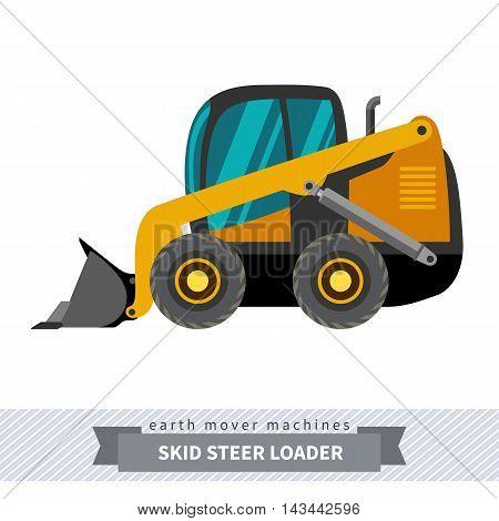 Skid Steer Loader Earth Mover Machine
