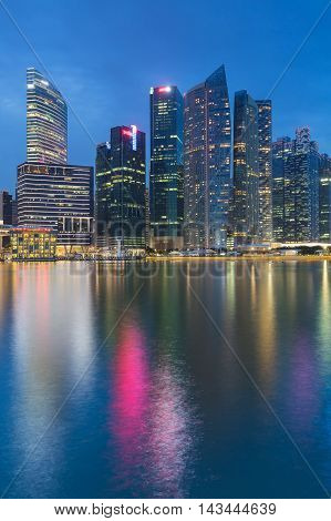 Hong Kong cityscape skyline waterfront night view